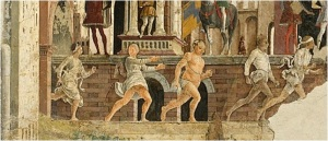 April - time for racing naked prostitutes in renaissance Ferrara.