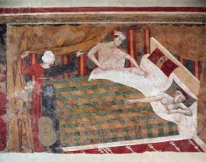 Italian Fresco Painting of  (ca. 1320) by Memmo di Filipuccio