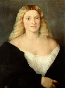 Titian young woman black dress