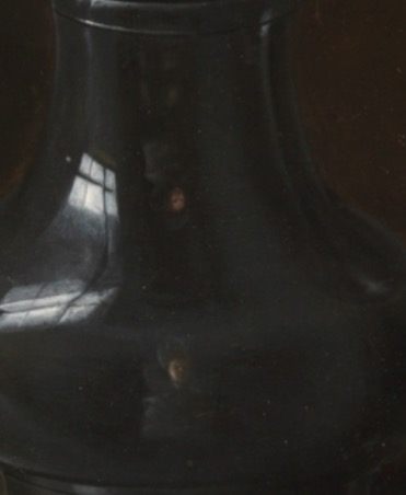 Clara Peeters pewter reflection