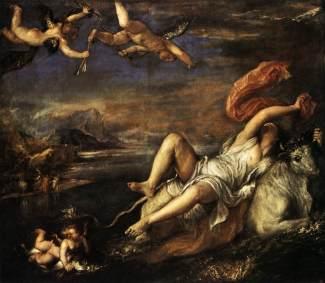 Titian, Rape of Europa. Oil on canvas, 1562. 178 x 205cm. Isabella Stuart Gardner Musuem, Boston.