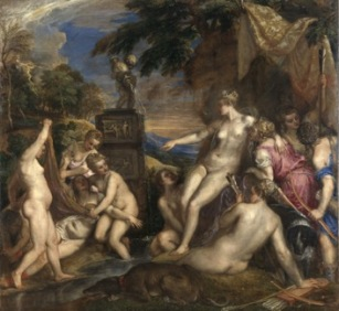 Titian, Diana and Callisto. Oil on canvas, 1556-9. 187 x 204cm. Edinburgh, National Gallery of Scotland/London National Gallery.