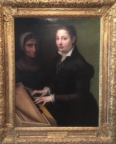 Sofonisba Self-Portrait with Clavichord, Althorp