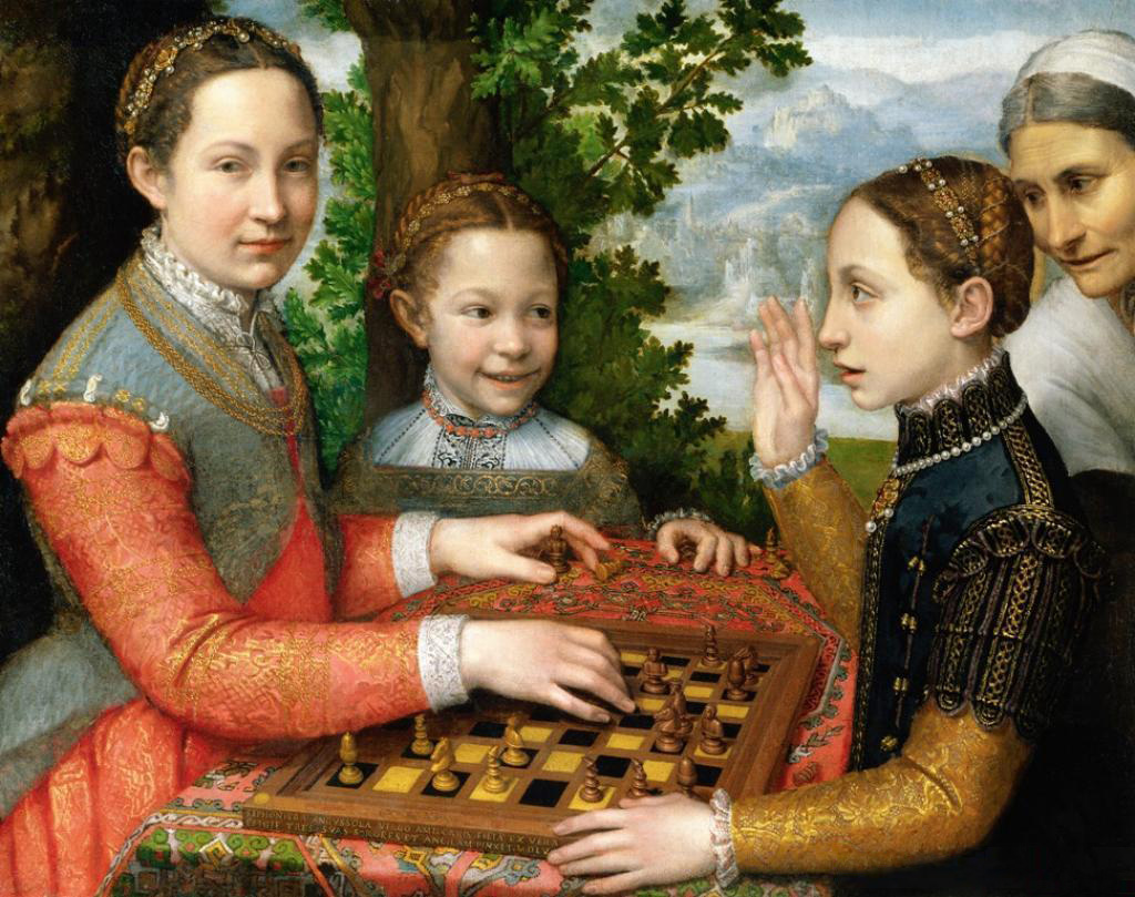 Sofonisba Anguissola, The Chess Game. 1555. Oil on canvas, 72 x 97cm. National Museum, Poznań.